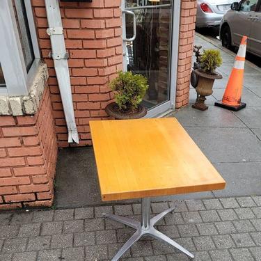Modern Butcher Block Top Table. 24x36