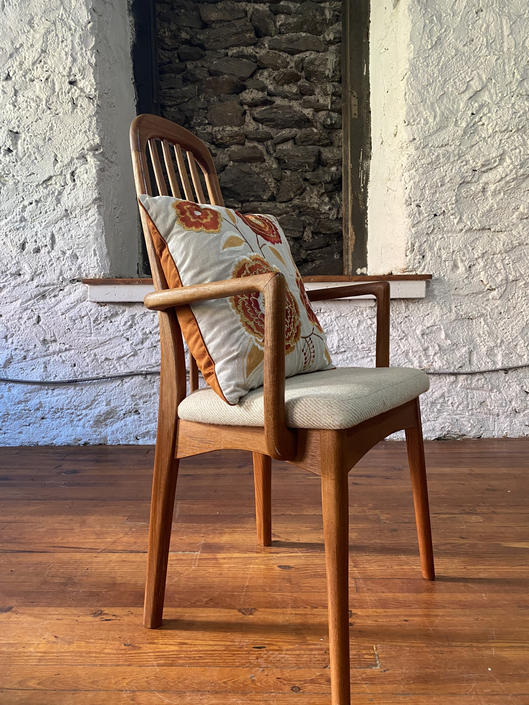 Mid century side chair Danish modern arm chair teak accent chair by VintaDelphia