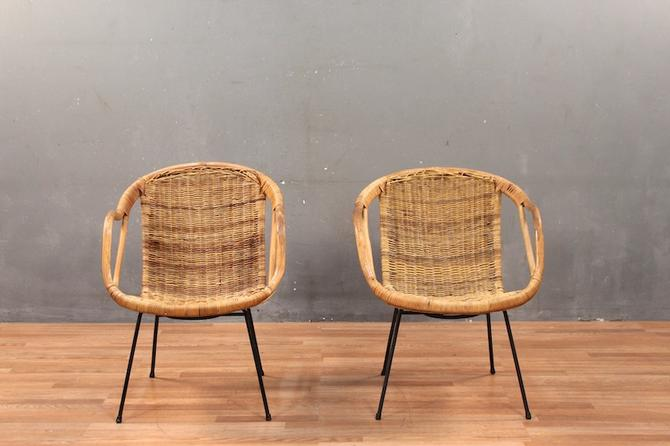 Rattan & Bentwood Pod Armchair – ONLINE ONLY