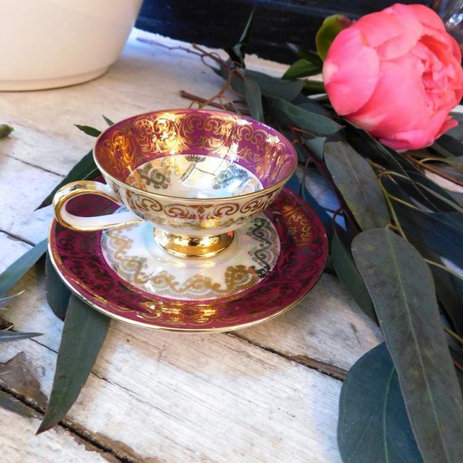 Vintage Bavarian Espresso Cup & Saucer
