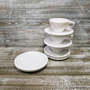 Vintage Boontonware Dishes, Bright White Dinnerware, Plastic Melamine Melmac Dish Set, 1950's Cups & Plates, Camping RV, Vintage Kitchen by AGoGoVintage