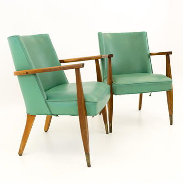 Kroehler Mid Century Modern Occasional Lounge Chairs - Pair - mcm by ModernHill