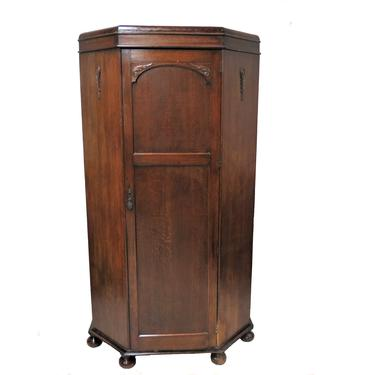 Wardrobe Furniture | Antique English Hall Robe Or Armoire With Bun Feet by PickeryPlace