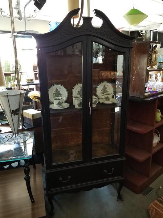 Vintage small scale curio cabinet