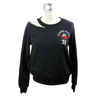 L\/S Black Sesame Street Slash Sweatshirt