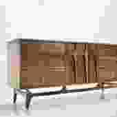 72″ Custom Brasilia Credenza Sideboard ( Solid & Brass Upgrade  )