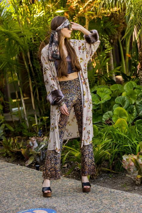 Hermia Faux Fur Koi Kimono by jennafergrace