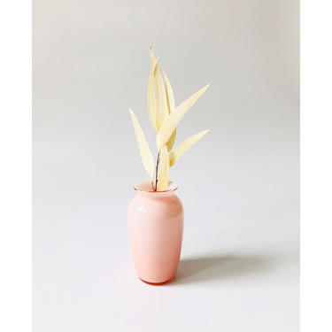 Vintage 1980s Pink Cased Glass Vase by Laslo for Mikasa by SergeantSailor