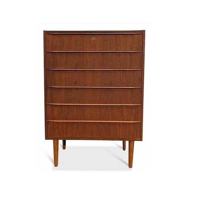 Vintage Danish Mid Century Teak Dresser - Centrum by LanobaDesign