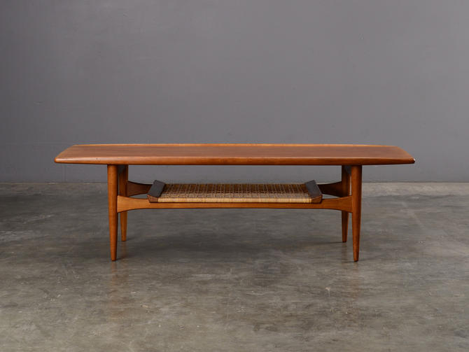 4.5ft Mid-Century Coffee Table Danish Modern Teak by MadsenModern