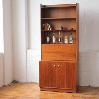 Drexel Declaration Bookcase Cabinet with Dropfront Desk by Kipp Stewart and Stewart MacDougal by NijiFurnishing