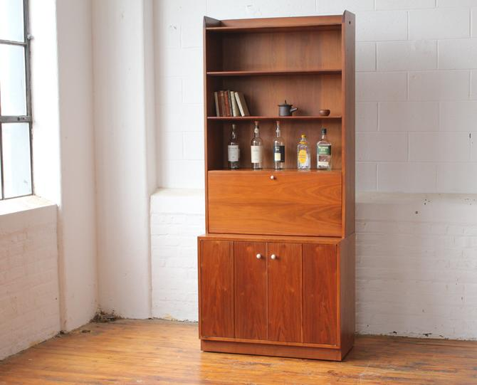 Drexel Declaration Bookcase Cabinet with Dropfront Desk by Kipp Stewart and Stewart MacDougal by NijiFurnishing
