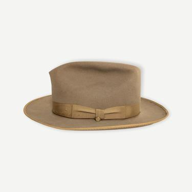 Vintage 1950s PENNEY'S MARATHON Fedora ~ size 7 1/8 ~ Whippet / Playboy ~ Bound Edge ~ Work Wear ~ Wide Brim ~ 3X Beaver ~ Penneys by SparrowsAndWolves