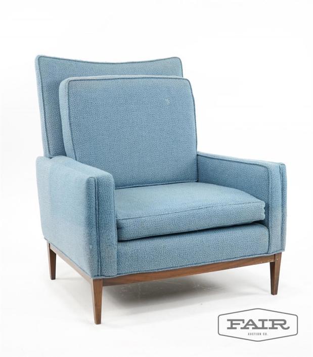 Paul McCobb Atrb. Tall Back Lounge Chair