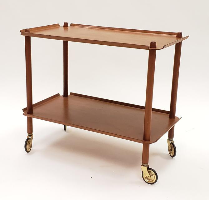 Danish Teak Mid-Century Modern Bar Cart