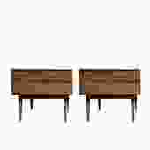 #500: Pair of Mid Century Nightstands