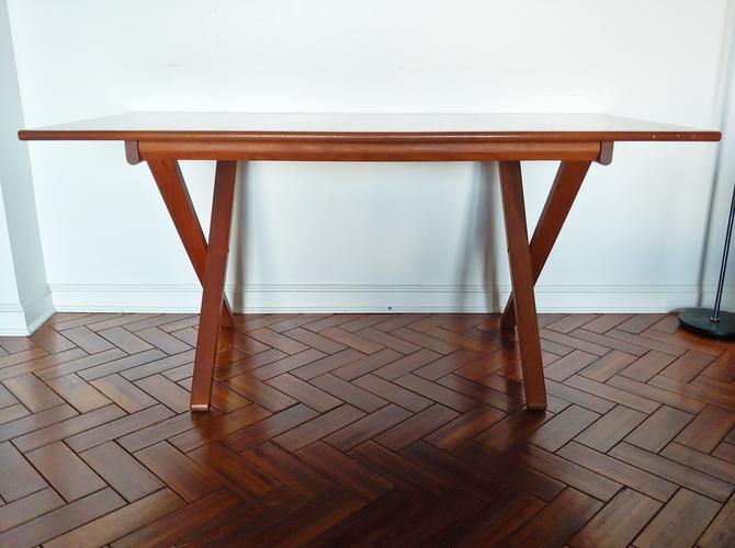 Danish Modern Teak Adjustable Height Desk \ Dining Table c.1960's Vinde Mobelfabrik by ModandOzzie