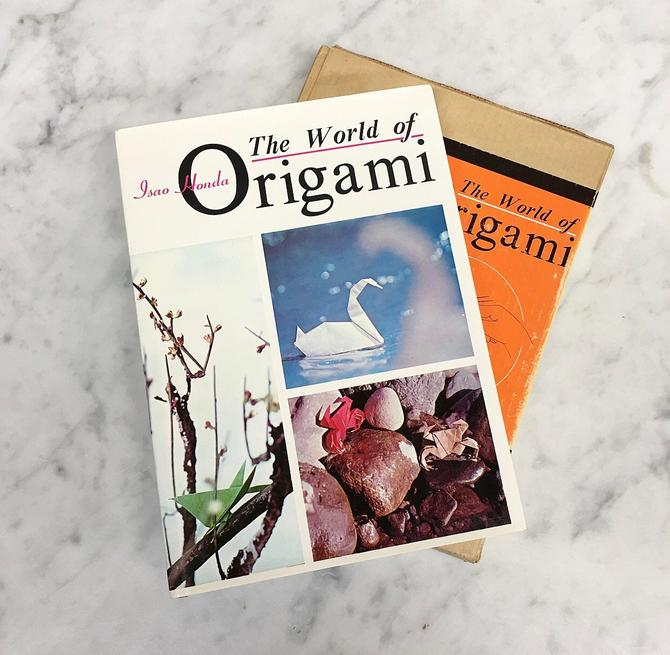Vintage World of Origami Book Retro 1960s Isao Honda + 1st Edition + How To + Technique + Illustrations + Art of Paper Folding + Hardcover by RetrospectVintage215