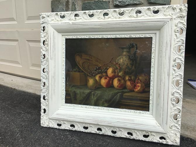 Antique Print in Shabby Chic Frame