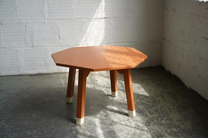 Creamsicle Octagon Side Table