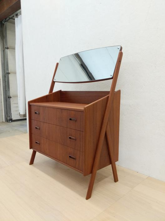 Vintage Danish Modern Teak Vanity Dresser by FarOutFindsNYC