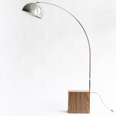 Vintage MCM Mid-Century Aluminum Arc Lamp / Floor Lamp by blinkmodern