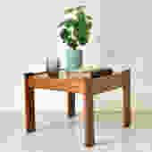 Vintage Teak Large Square Side Table