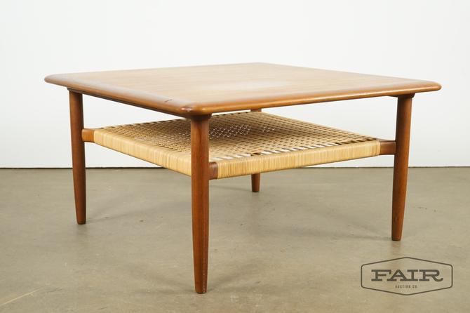 Danish Teak and Cane Table - Attrib. Kurt Ostervig