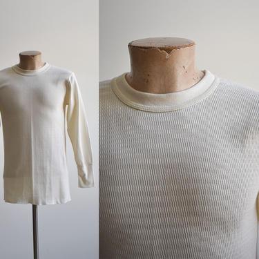 Vintage Cream Lee Thermal Longsleeve Shirt by milkandice
