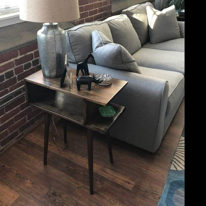 Mid Century Modern End Table Side Table by OrWaDesigns
