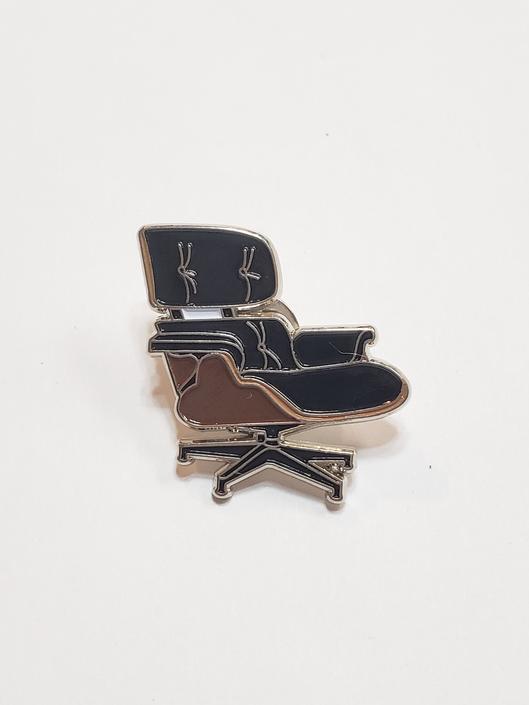 Enamel Cloisonne Eames Chair Pin