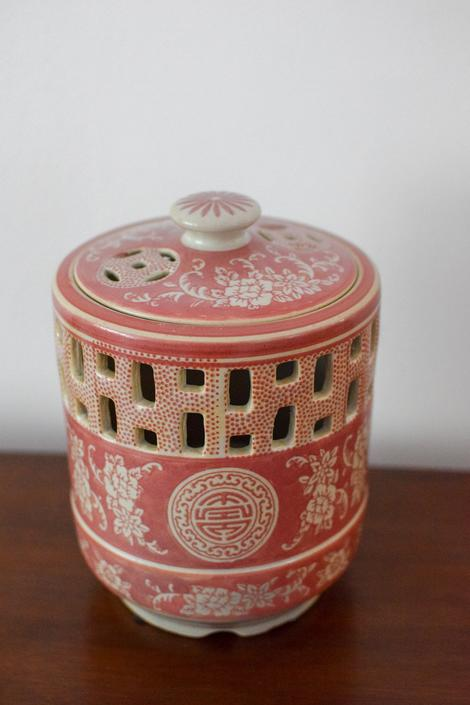 Pink Asian Earthenware Lantern by CapitolVintageCharm