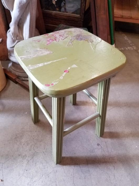 Cute green stool