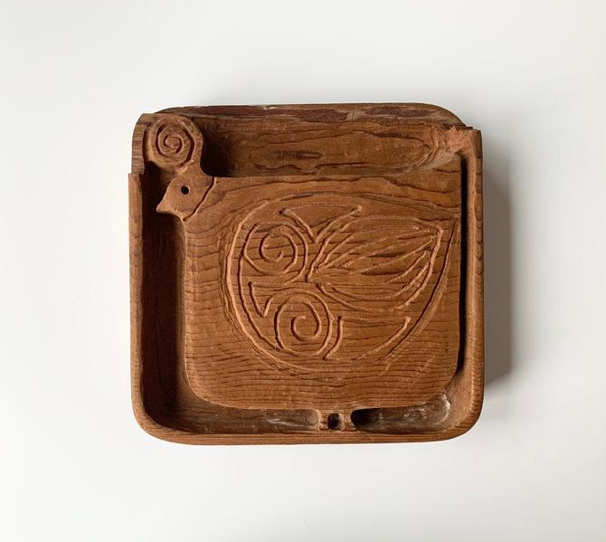 Mid Century Stan Dann Partridge Wood Carved Panel by SabineVintageHome