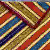 Vintage Scandinavian Colorful Heavy Wool Textile Bedspread by Walkingtan