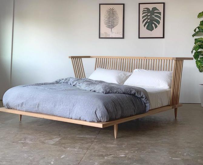 Modern Windsor Platform Bed, Handmade Bed by BeautyBreadWoodshop