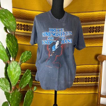 Vintage Bruce Springsteen 1984/85 Concert T-shirt Original by DesertCactusVintage