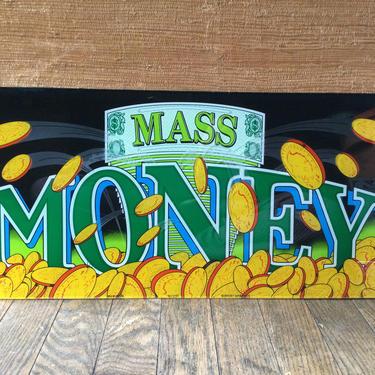 Mass Money Sign Glass Arcade Bar Art Slots Casino Panel Slot Machine by BrainWashington