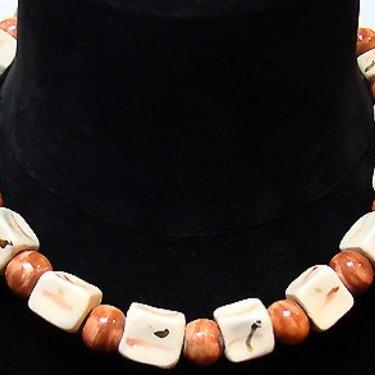 Cafe Society Collection:  Hand Crafted Square and Round Ceramic Beads by CafeSocietyStore