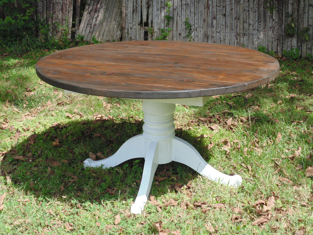 Allegany round dining table reclaimed wood custom for Unique round kitchen tables