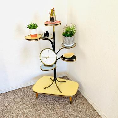 Atomic Table Mid Century Modern Plant Table Etagere German Flower Bench Side Table End Table Display Table Retro Vintage by dadacat
