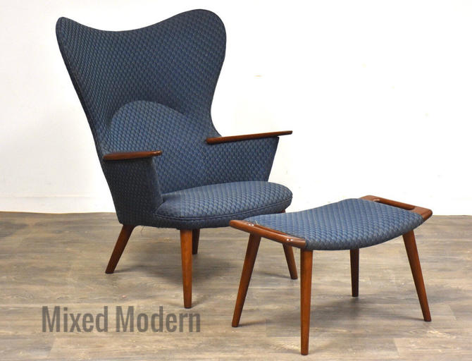 AP-28 Mama Bear Chair and Ottoman by Hans J. Wegner for AP Stolen by mixedmodern1