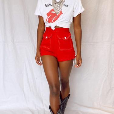 40's Red Hot Pin Up Shorts