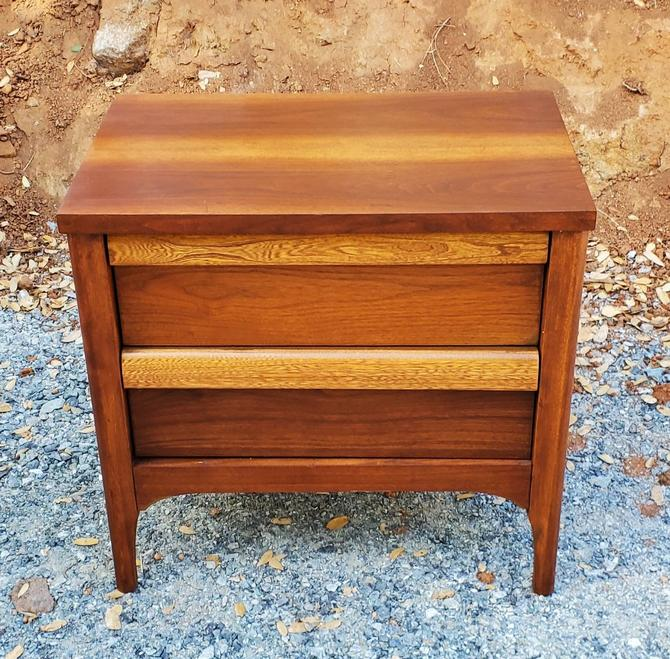 Mid Century Modern Lane Nightstand End Table Walnut 2 Drawer Bedroom Teak Color by MakingMidCenturyMod