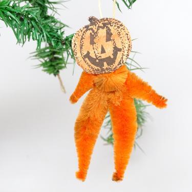 Vintage Halloween Jack O Lantern Party Favor, JOL Man Diecut  Ornament by exploremag