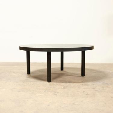 Blackened White Oak Coffee Table FREE SHIPPING Round by OlivrStudio