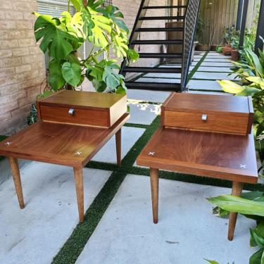 Refinished American of Martinsville side tables *SHIPPING NOT FREE* by AndreaPalmaiDesign