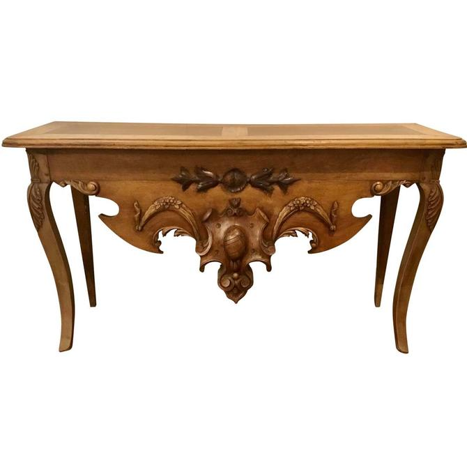 19th Century Traditional English Carved Wood Console Table