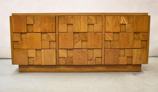 Lane Mosaic Brutalist Inspired Low Dresser