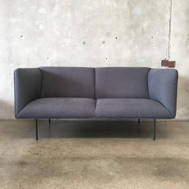 Grey Modern Sofa with Steel Legs